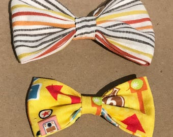 Bows 2 pack in Yellow and Red