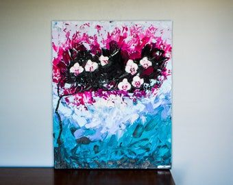 Brilliance of Sight - Large Acrylic Painting, very heavy texture, original piece, high quality