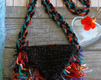 Paradise BAG, hand-knitted tactile shoulder bag