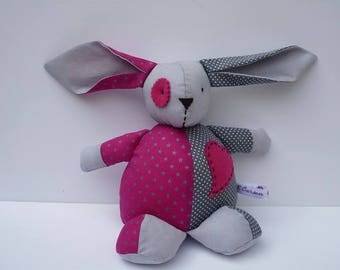 Pink and gray rabbit