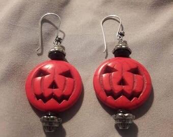 Pumpkin King dangle earrings