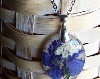 Purple Larkspur Necklace