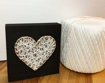 Mini Heart String Art, Heart String Art, Anniversary, Valentines Day, Home Decor
