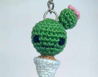 Cactus Amigurumi crochet Key chain-gift idea