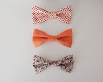 3 pack of Bow Ties - Orange Soda