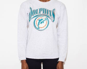 Miami Dolphins, Game Day, Football, NFL, Vintage Sweatshirt, Pullover, 90s Clothes, Sports, Sporty, Athletic, Sweatshirt, 90s Sweatshirt