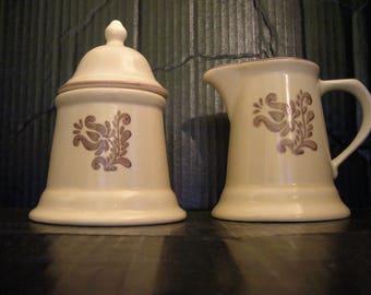 """Pfaltzgraff """"Village"""" Creamer and Sugar Bowl"""