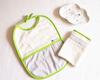 Bib 0-36 months + washcloth, birthday gift