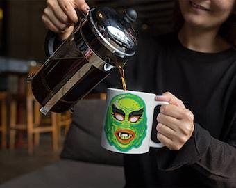 Creature From The Black Lagoon, Vintage Halloween, Halloween Mug, Horror Movie, Horror Film, Halloween Gift, Coffee Lover, Coffee Mug