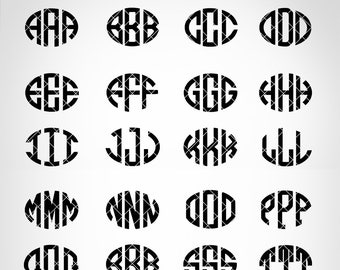 SALE! Oval monogram font - Oval SVG font -  Monogram instant download - font for Cricut and Silhouette - svg, eps, dxf, png - SAC5