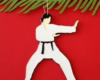 Martial Arts Girl Christmas tree ornament