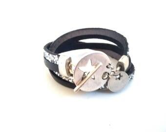 Leather Bracelet European double row