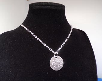 Love silver charm necklace
