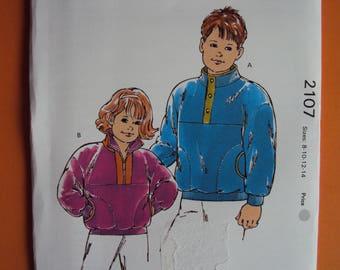 Kids' cozy winter jacket pattern- Kwik Sew-2107 size 8-14- uncut- sealed