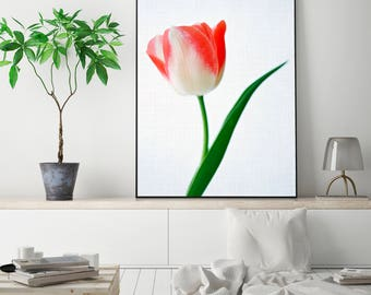 SALE 20% OFF! Tulip Print Tulip Poster Tulip Art Tulip Wall Art Rose Print Peony Art Tulip Digital Flower Digital Tulip Photo