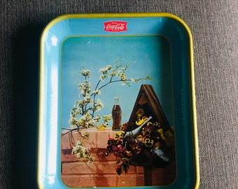 Vintage Rare 1957 Canadian Coca-Cola COKE 'Birdhouse' serving tray