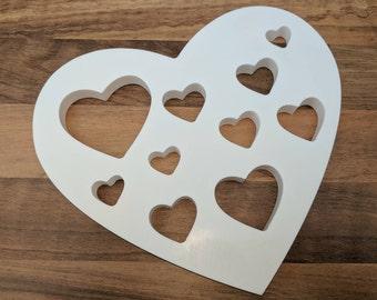 Heart Coaster Table Decoration