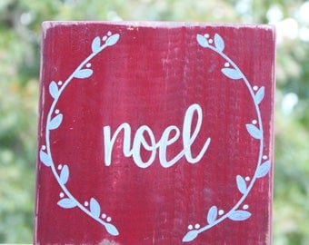hand painted sentiment on wood