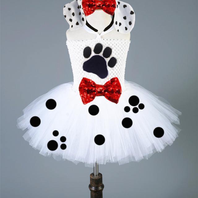 Dalmatian Tutu Halloween tutu White tutu black polka dot and red bow tutu polka dot tutu & Dalmatian Tutu Halloween tutu White tutu black polka dot and red bow ...