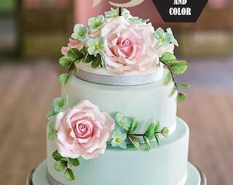 Letter B Cake topper, Monogram Cake Topper, Wedding Cake Topper, Unique Cake Topper, Initials Cake Topper Single Letter, Personalised Topper