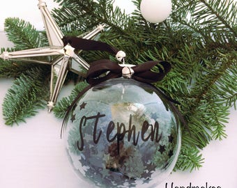 Personalised Bauble// Christmas Bauble// Glass Bauble// Bauble// Christmas Decoration// Personalised Gift// Tree Decoration// Christmas
