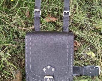 Bikers belt pouch  Hip Belly Belt Bag Leg Bag genuine leather