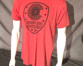 Centennial State 1876 T-Shirt - Colorado Denver CO Snow Flake