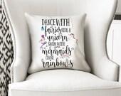 Mermaid Pillow, Mermaid Decor, Mermaid Cushion, Decorative Pillow, Mermaid Gift, Birthday Gift, Mermaid Nursery, Girls Room Decor, Mermaid