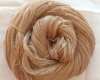 IRISH LICHEN ~ botanically dyed CAMEL/Silk  yarn ~ 4ply weight