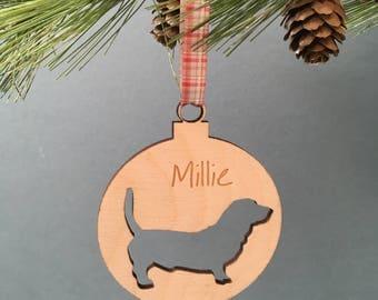 Personalised Dog Bauble.  Pet Christmas Decoration.  Hound Tree Decoration.