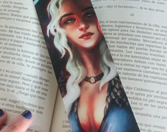 Game of thrones bookmark gift, daenerys bookmark papel, gift readers, reading books, mother of dragons, got khaleesi, daenerys blue dress
