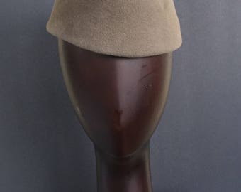 CADETTE - Cadet Cap - Latté Fur Felt Velour
