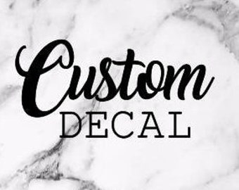 Custom Vinyl Decal Etsy - Custom vinyl stickers logo