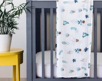 Watercolour Swaddle, Cactus Swaddle, Botanical Swaddle, Muslin Swaddle Blanket, Newborn Swaddle, Baby Swaddle, Baby Gift, Baby Shower Gift