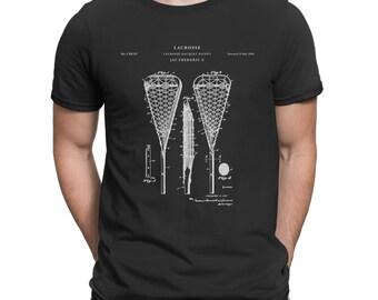 Lacrosse Stick Patent T Shirt, Lax, Lacrosse Shirt, Lacrosse Gifts P91