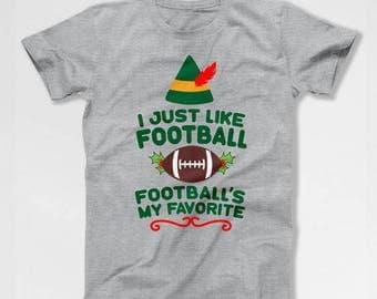 Funny Christmas T Shirt Elf Gift Ideas For Him Football Shirt Xmas Present Holiday Clothes Christmas Clothing Mens Ladies Tee TEP-398