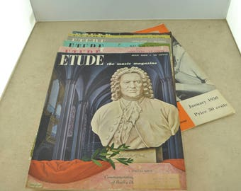 The Etude Magazine of 1950 - Quantity of 7
