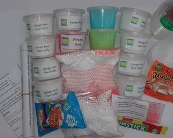 Design your Own Slime Kit - Large - Slime Kit / UK Slime Kit / Classic Slime / Fluffy Slime / Glitter Slime / Large slime kit