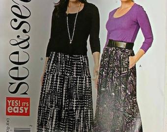 B6234, Butterick, Skirt Pattern, Sewing Pattern, Size 4-26, Size XS-XXL