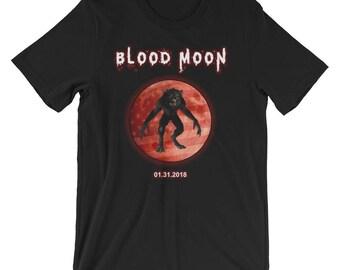 Blood Moon Werewolf Shirt Lunar Eclipse T-Shirt UNISEX Astronomy Gift