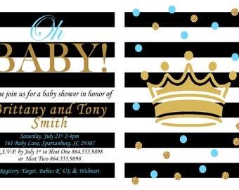 Kate Spade Inspired Invite/Kate Spade Baby Shower