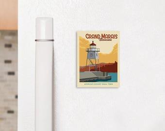"Grand Marais Fridge Magnet 2.5"" x 3.5"""