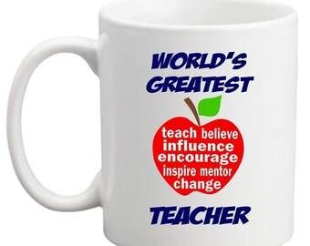 World's Greatest Teacher MUG - APPLE DESIGNS