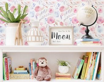 Abnehmbaren Wallpaper   Vintage Kinderzimmer Wand Wandbild Rose    Wiederverwendbare Tapete   Selbst