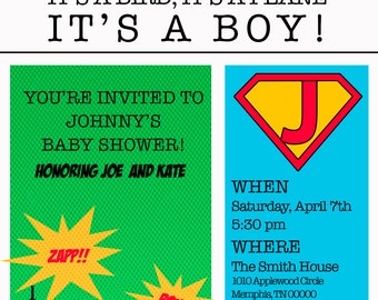 Superman/Comic Themed Invitation