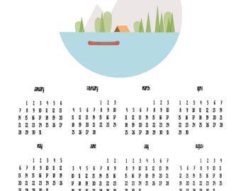 Let's be adventurers - typography poster calendar 2018 print