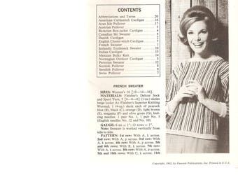 VINTAGE KNITTING Patterns - Sweaters - Men and Women - 16 Designs