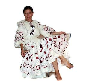 Ukrainian Dresses Bohemian Style Ukraine boho Custom Boho Dress Abaya Linen Dress Ukrainian Embroidery Chic nationale Vyshyvanka Vishivanka
