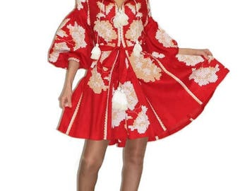 Ukrainian Vyshyvanka Dress Custom Boho Clothing Gift Bohemian Dresses Ukraine Dresses Vishivanka Ethnic Style Fashion Dubai