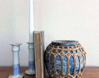 blue vintage vessel